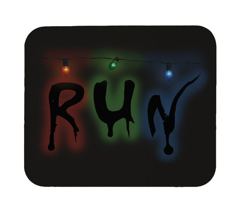 "Strange Christmas Lights ""Run"" Mouse Pad"