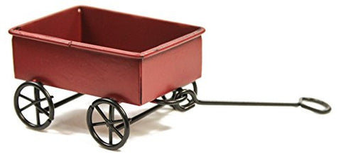 Ganz Collectible Fairy Garden 2.5 Inch Red Wagon with Handle
