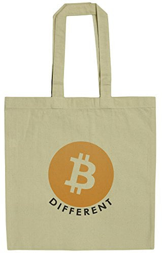 Bitcoin Be Different 15 Inch Canvas Tote Bag
