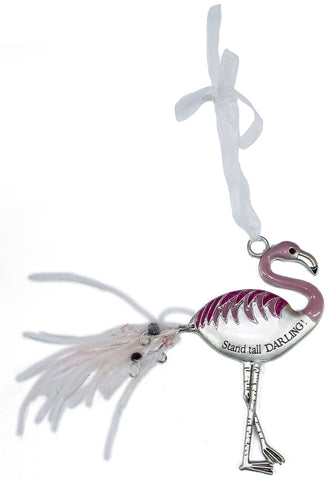 Ganz Inspirational Flamingo Zinc Ornament Collection -Stand tall darling