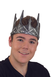 Halloween/ Costume Accessory - Adjustable Foam Kings Crown (Silver)