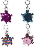 Color Changing Sequin Sea Creatures Key Chains/ Clips, Set of 4, Choice of Animal!
