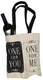 2 Bottle Wine Tote Bag- One For You, One For Me