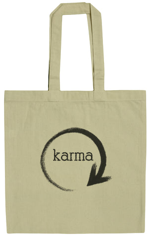 Karma - What Goes Around 15 Inch Canvas Tote Bag