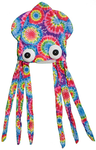Costume Accessory - Felt Tye Dye Squid Hat