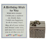 A Birthday Wish For You Zinc Wish Box Charm w/ Story Card by Ganz