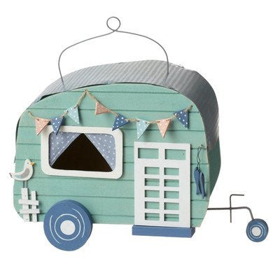 9 Inch Beach House Camper Bird House