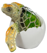Adorable Baby Sea Turtle Hatching From Egg 3 Inch Tall Figurine