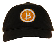 Bitcoin Logo Embroidered Adjustable Baseball Cap