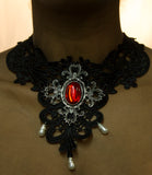 Halloween Costume Accessory Victorian Lace Necklace (Black)