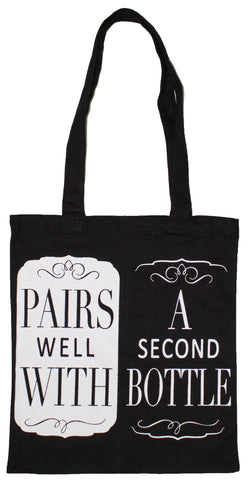 2 Bottle Wine Tote Bag- Pairs Well With a 2nd Bottle
