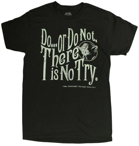 Men's Disney Star Wars Yoda Do or Do Not Graphic T Shirt