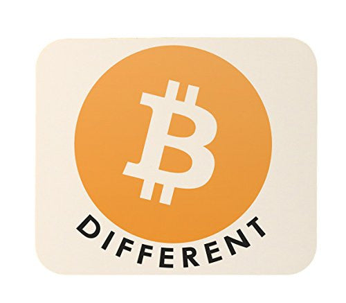 Bitcoin Be Different Logo Mouse Pad