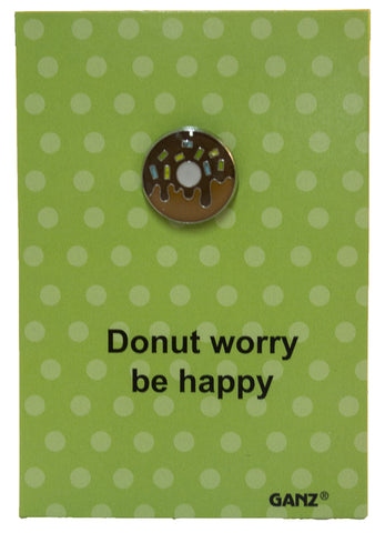 Pin It! Lapel Pin Hat Pin Tie Tack with Colorful Enamel and Funny Pun- Donut
