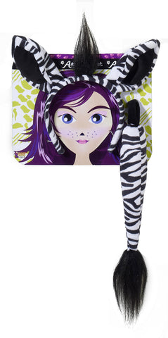 Forum Novelties Women's Playful Animals Zebra Costume Accessory Set