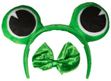 Costume Accessory Kit- Frog Headband with Bow Tie