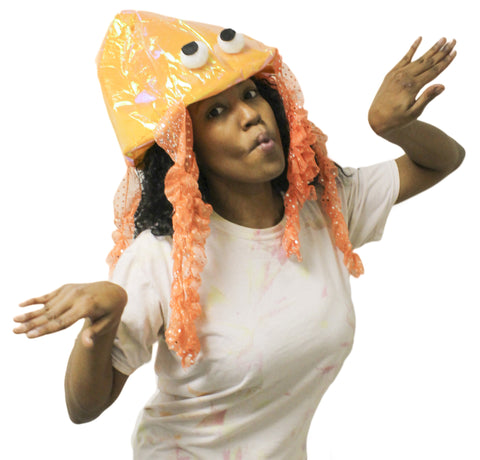 Costume Accessory -Iridescent Novelty Jellyfish Hat (One size fits most)