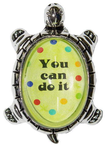 1.5 Inch Ganz Lucky Little Turtle Pocket Charm - You can do it