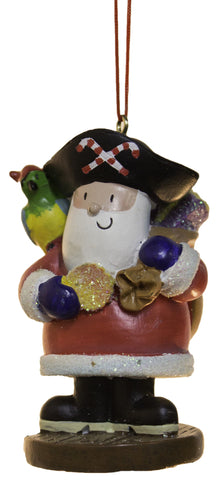 3 Inch Santa Pirate Christmas Ornament