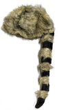 Halloween Costume Accessory - Striped Tail Furry Coon Hat