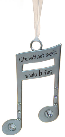 3 Inch Music Lover's Life Is Music Zinc Ornament - Life Without Music