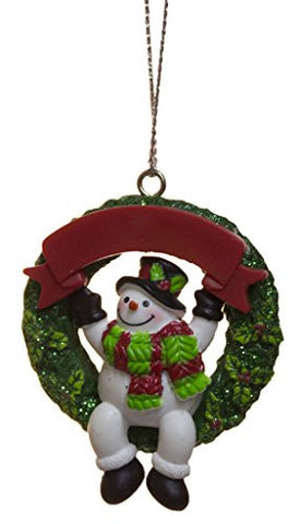 Ganz 2 Inch Personalizable Snowman Ornament (Top Hat)