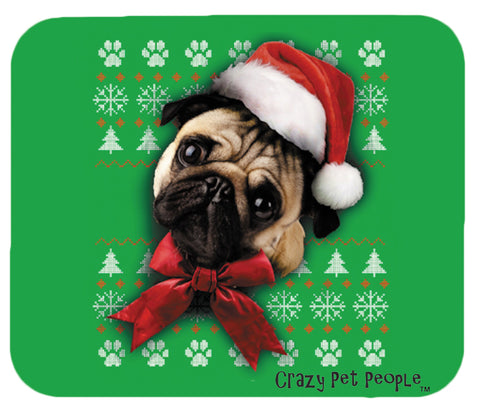Dog Lovers Pug Ugly Sweater Christmas Design Mouse Pad