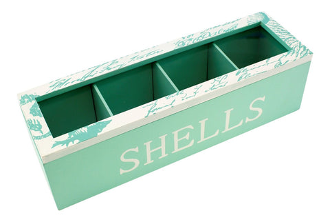 Wooden Rectangle Collecting/Display Box - Shell