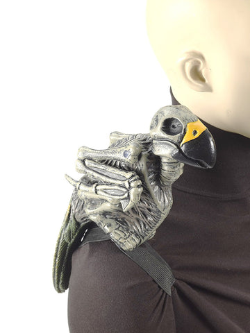 Costume Accessory Prop - Zombie Parrot w/ Shoulder Stand