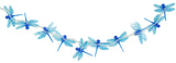 4 Ft Light Up Dragonfly Garland with 10 LED Lights