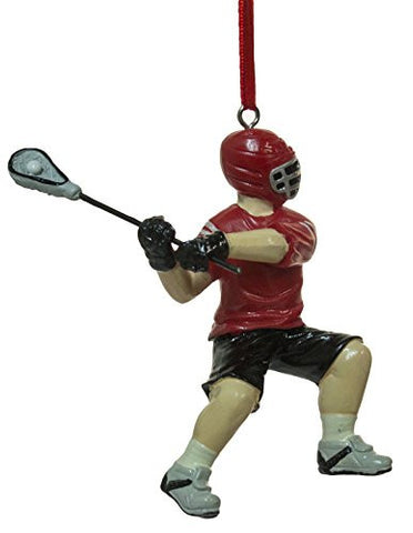 "3"" Lacrosse Player Christmas/Everyday Ornament"