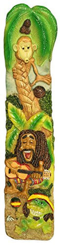 12 Inch Rastafarian Man Three Dimensional Incense Burner