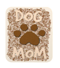 "Dog Lovers ""Dog Mom"" with Paw Print Mouse Pad"