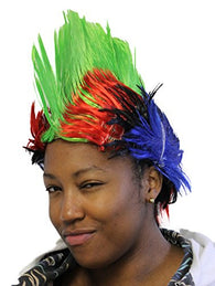 Costume Accessory - Novelty Tie Die Mohawk - One Size Fits Most (Green)
