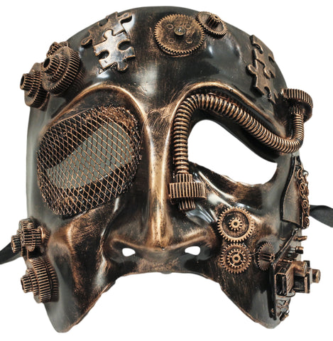 Steampunk Bronze Tragedy Theatre Plaster Mask (75987)