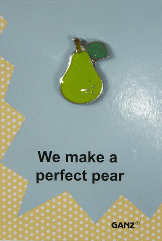 Lapel Pin Hat Pin Tie Tack with Colorful Enamel and Funny Pun- Pear