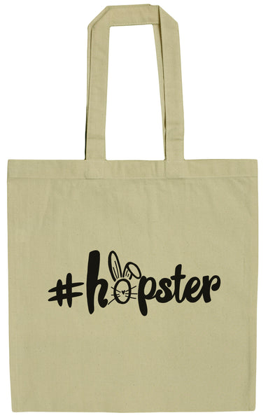#Hopster Funny Easter 15 Inch Canvas Tote Bag