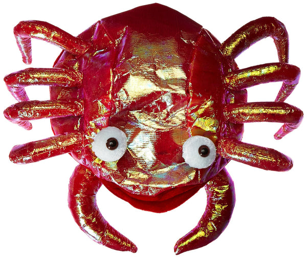 16 Inch Shiny Crab Novelty Costume Hat - One Size Fits Most