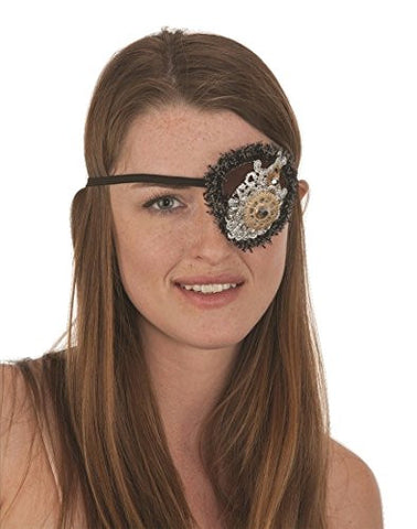Halloween Costume Accessory - Ladies Deluxe Steampunk Eye Patch