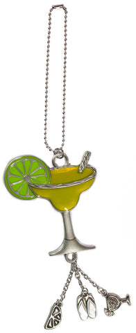 Fun In The Sun Zinc Car Charm -Margarita Tropical Drink