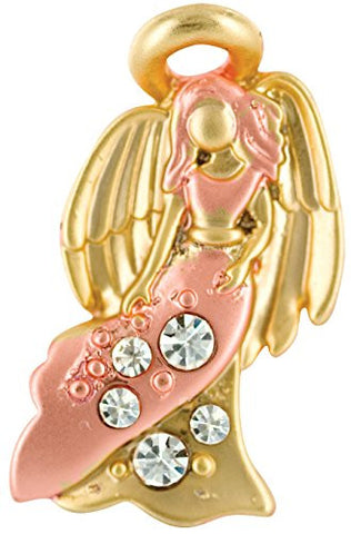 Wings and Wishes Angel For A Special Mother Two Tone 1 Inch Tac Pin With Crystals
