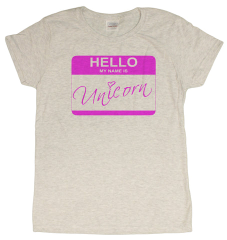 Ladies My Name Is Unicorn Funny T-Shirt