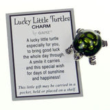 Lucky Little Turtle Car Mirror Charm on Flexible Elastic Semi Precious Stone Strand