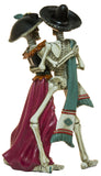 12 Inch Tall Dancing Mariachi Skeleton Couple Staue