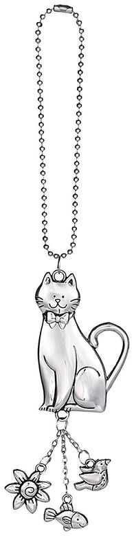 Attractive Cat Zinc Car Charm By Ganz (Hang from Rearview Mirror)