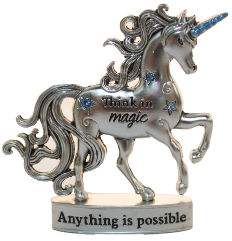 2 Inch Inspirational Unicorn Figurine With Sparkle Rhinestones- Anything is Possible