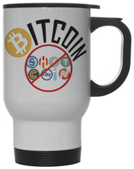 Bitcoin Not Shitcoin Funny Crypto Currency  12 oz Hot/ Cold Travel Mug