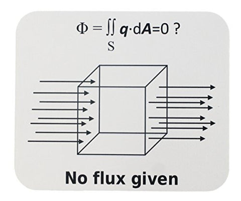 No Flux Given Funny Science Mouse Pad