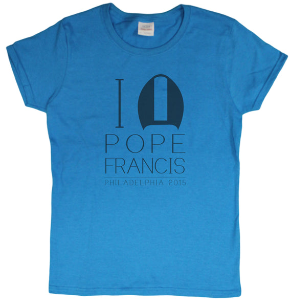 "Ladies ""Pope Francis Philadelphia 2015"" Commemorative T-Shirt"