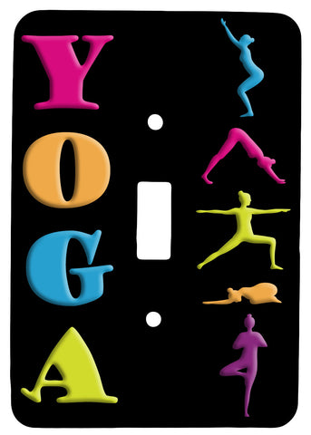 YOGA with Positions Single Toggle Metal Light Switch Cover